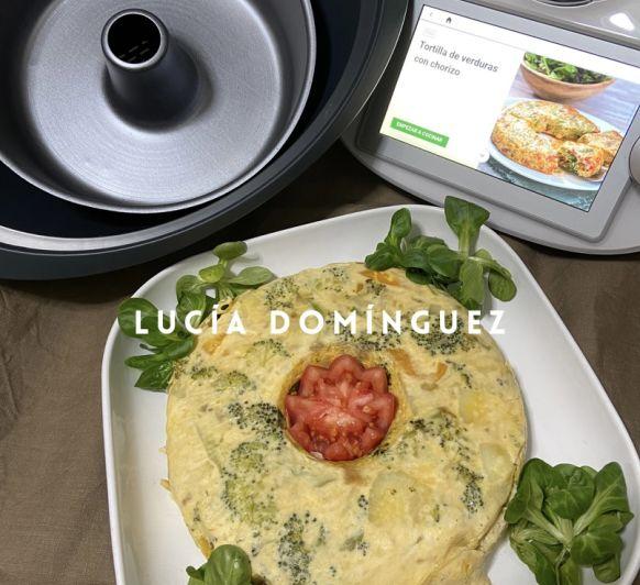 Tortilla de verduras al vapor con Thermomix®